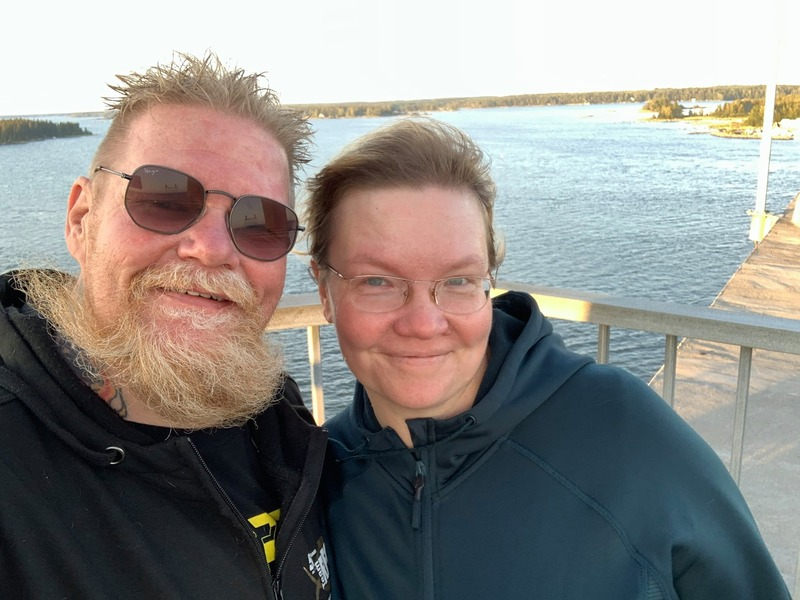 Out walking with my wife