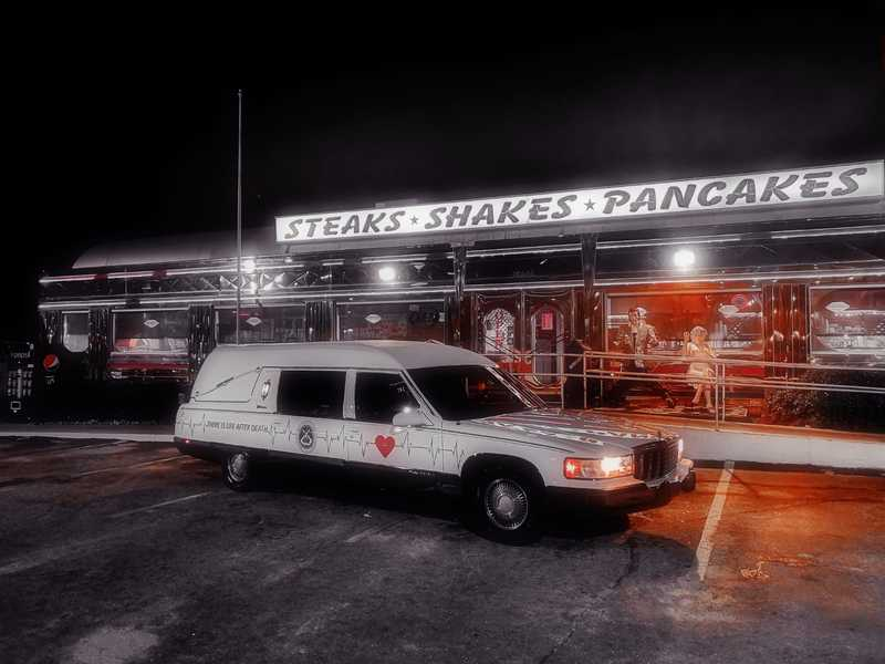 Hearse and American Classic Dinner