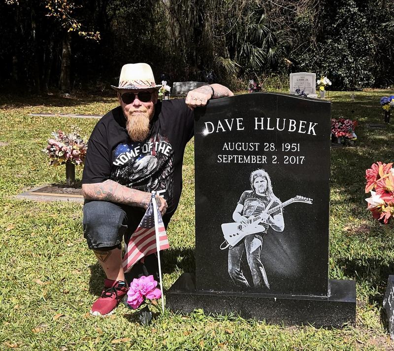 Got to visit my old friend Dave's grave before we left
